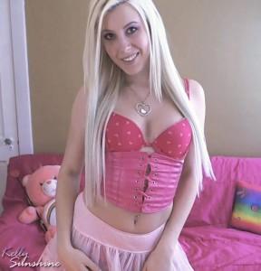 Cute Blonde Cam Girl in Pink